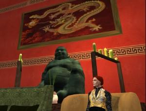 Dragonlands Hotel Interior with Buddha