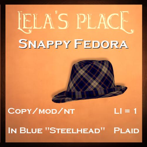 FedorasLelasPlaceSteelheadPlaid